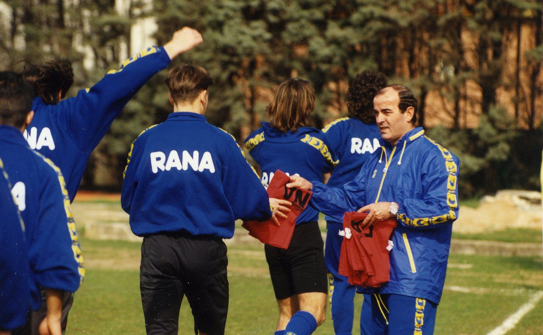 MARIO CORSO Calcio: Mario Corso allenatore del Verona nel campionato 1991/1992