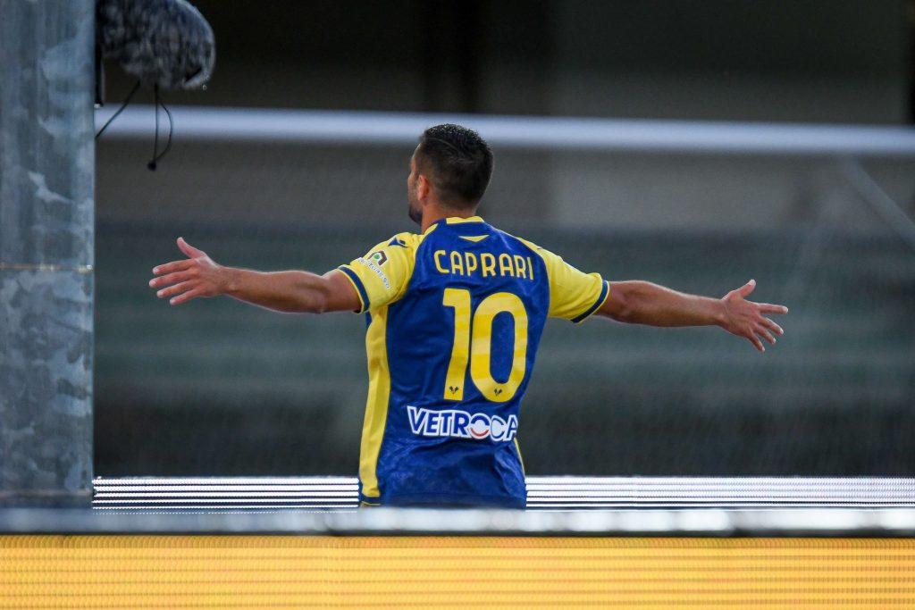 """Caprari: """"Contento per il primo gol sotto la curva. Manteniamo alta la tensione per la Salernitana"""" - Calcio Hellas"""